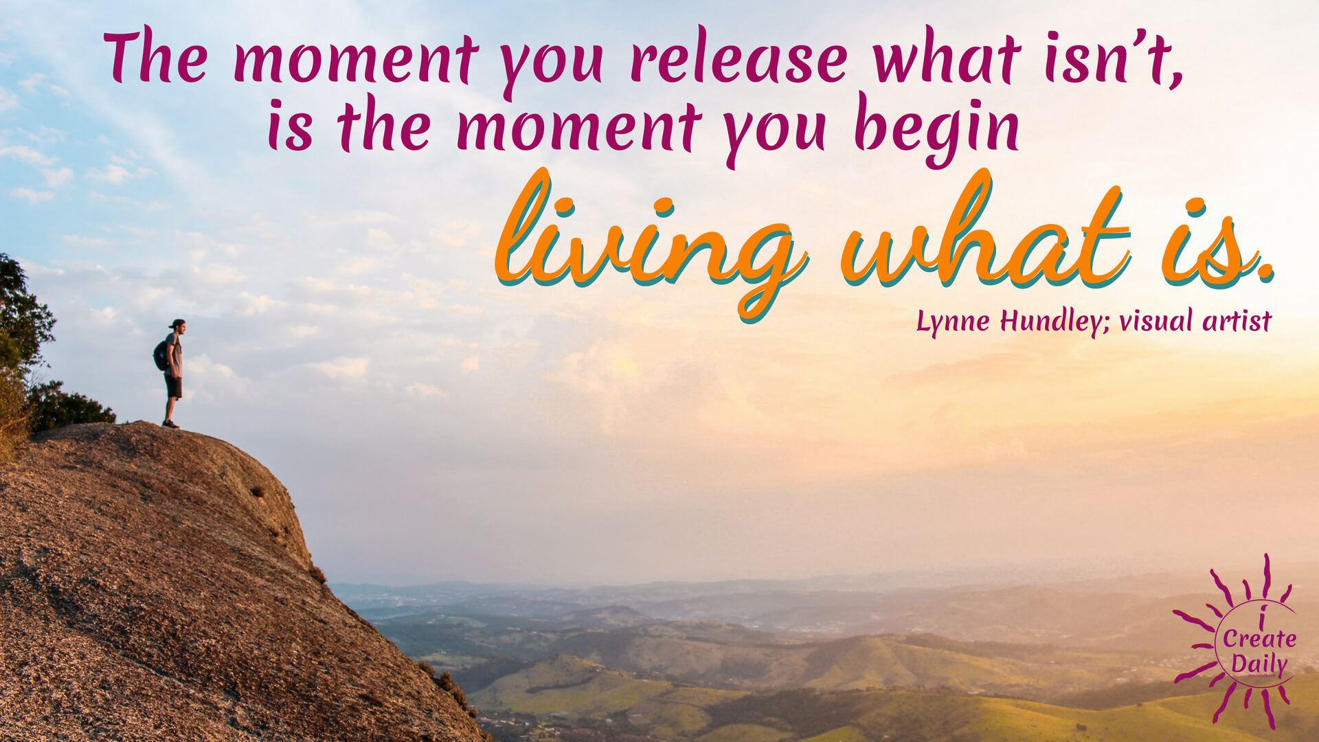 """The moment you release what isn't, is the moment you begin living what is."" ~Lynne Hundley #life #quotes #inspiration #motivationalquotes"