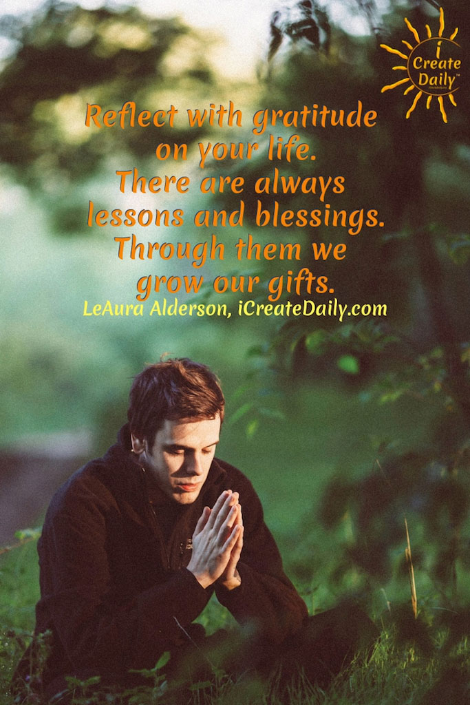 Gratitude reflection and blessings