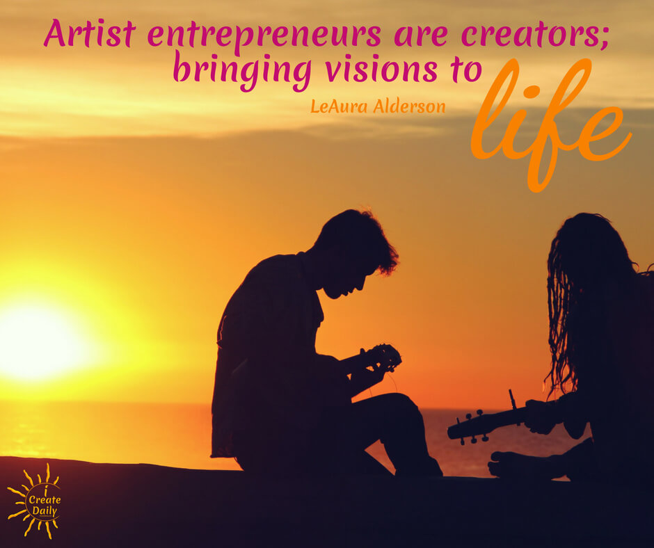 Creators must create to come more fully alive. But you must also do the work of art and the artistry of business. #ArtistEntrepreneur #Artists #Entrepreneurs #ArtistQuotes #EntrepreneurQuotes #iCreateDaily