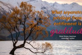 Gratitude Separates Privilege from Entitlement