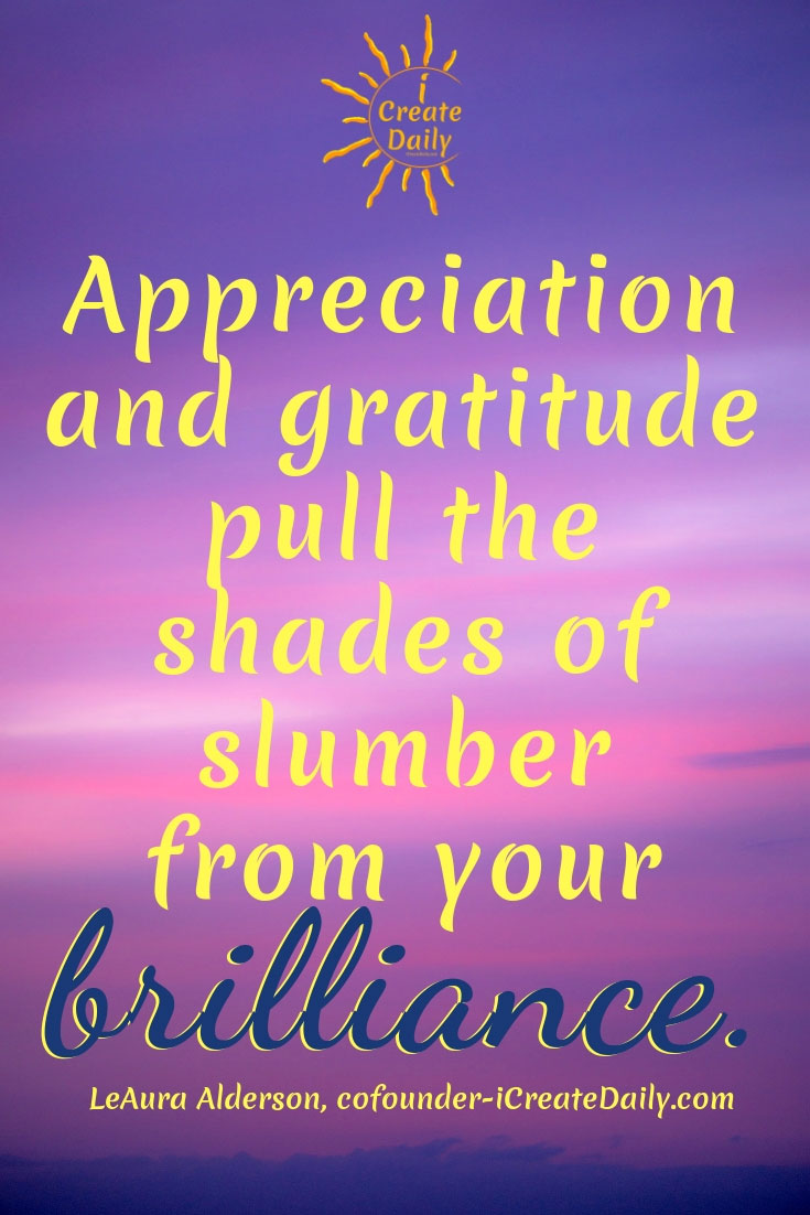 Appreciation and Gratitude