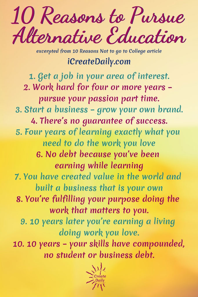 10 Reasons to Pursue Alternative Education