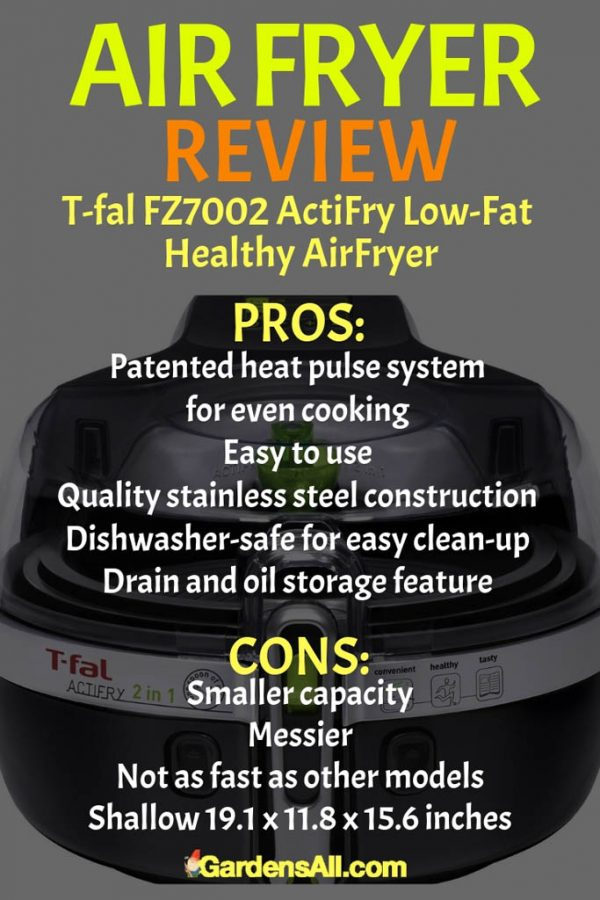 T-fal FZ7002 ActiFry Low-Fat Healthy AirFryer Pros and Cons