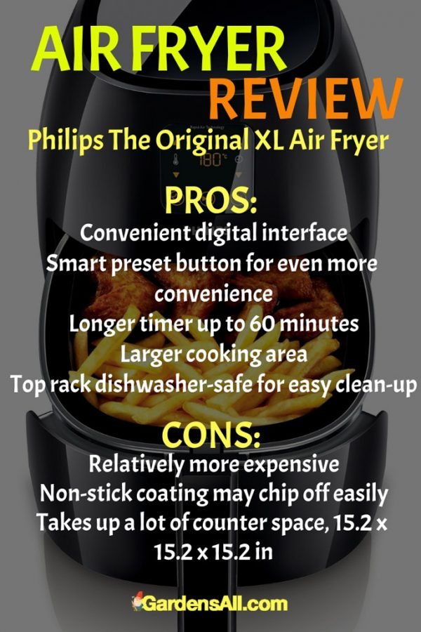 Philips The Original XL Air Fryer Pros and Cons