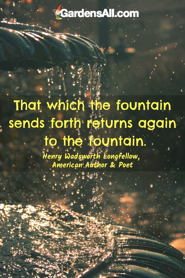 Fountain Sends Forth Return to the Fountain