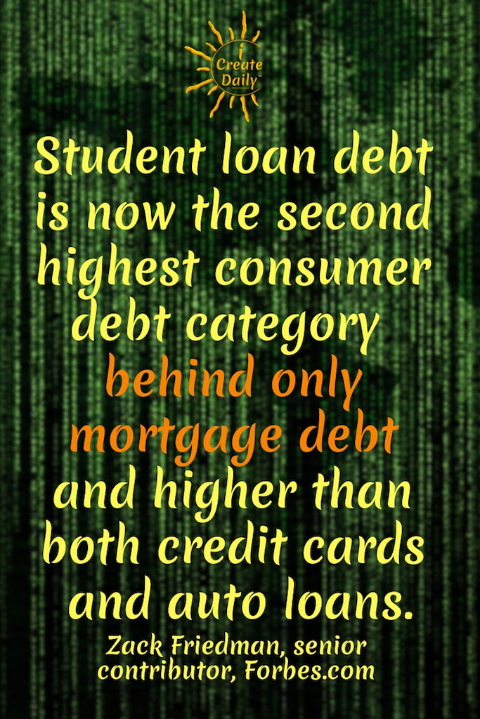 Student Loan Debt the Second Highest in Debt Category