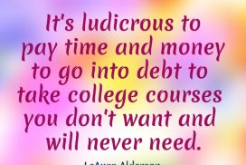 Be Wise to Choose College Courses That You Want and Need