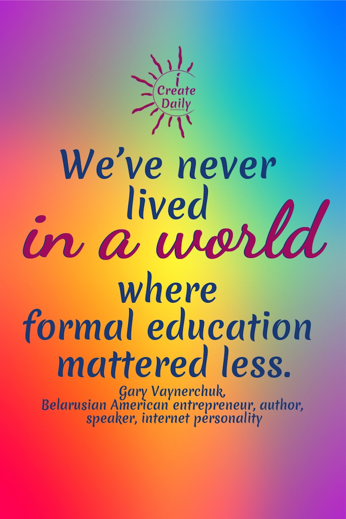 Formal Education Matters in Our World