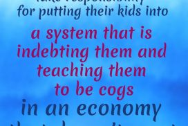 Sooner Or Later Kids Indebting and Cogs System Be Implemented