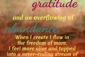 Art and Nature Towards Gratitude and Abundance