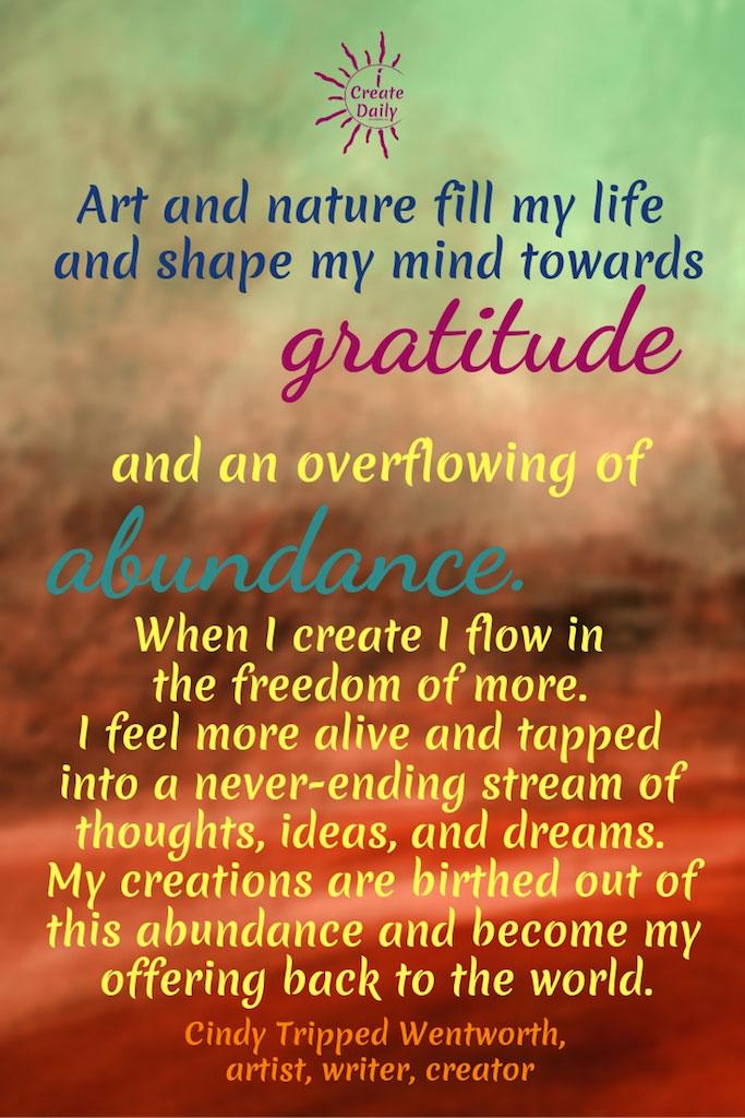 Art and Nature Towards Gratitude and Abundance
