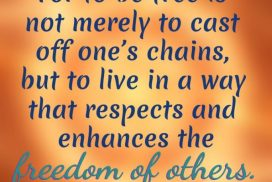 To Be Free Is to Respect the Freedom of Others
