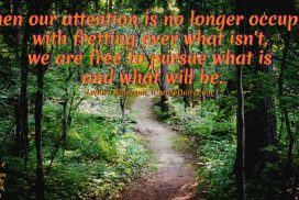 When Our Attention Is No Longer Occupied, We are Free