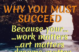 Why You Must Succeed