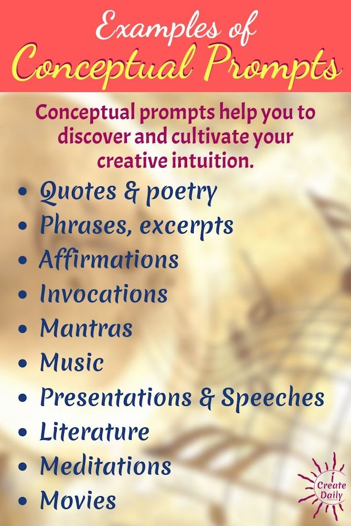Examples of Sources for Conceptual Prompts