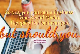 Run a Business From Social Media