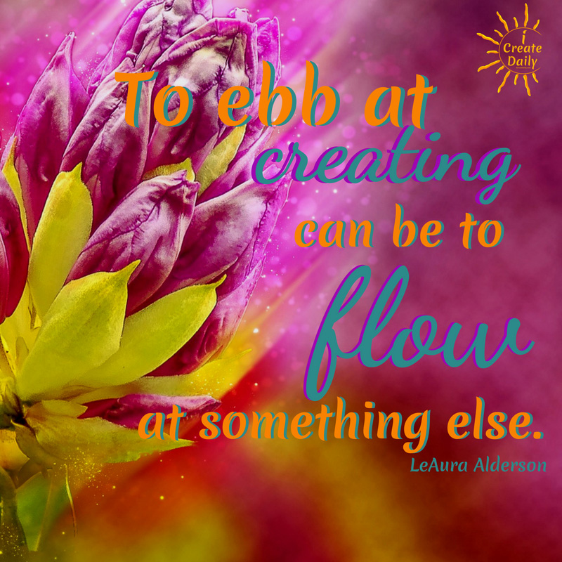 It's the practice of daily creating that most helps you grow. #GardenMetaphor #Creativity #CreatingDaily #gardening #NurtureLife #iCreateDaily #EbbAndFlow #CreativeFlow