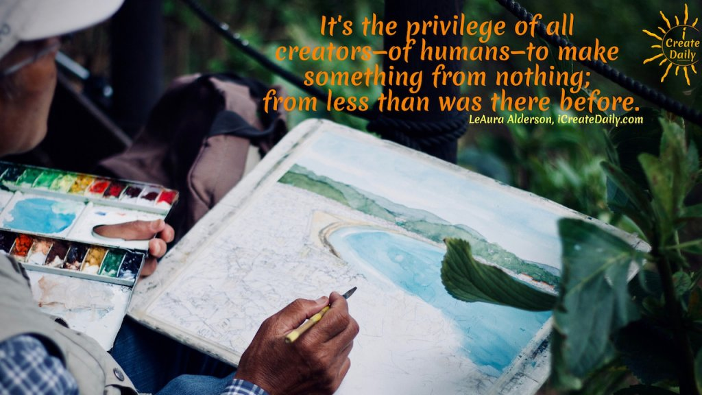How to you make something from nothing? You create. Whether creating art or creating muscle, you're making something from nothing. #MakingSomethingFromNothing #CreatingSomething #ArtIsAPrivilege #Creativity #Artists #Manifestation