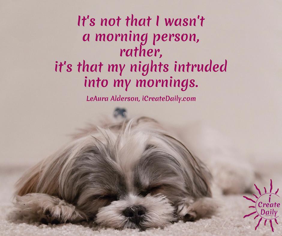 Morning Person or Night Owl? #MorningLark #NightOwl #Hummingbird #MostCreativeTime #GoalSetting #DailyGoals #MorningRoutine #WakeUpEarly