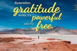 Remember, gratitude works, it's powerful and it's free. ~LeAura Alderson, cofounder-iCreateDaily.com® #Gratitude #Mindset #Transformation #Power #Positivity #Motivation #Inspiration #Quotes
