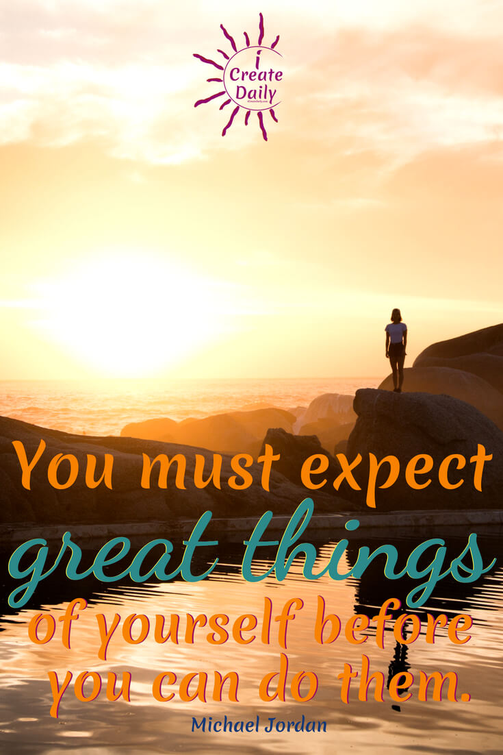 """Michael Jordan Quote: """"You must expect great things of yourself before you can do them."""" #MichaelJordanQuote #LifeAlchemy #TransformationQuote #Motivation #Inspirational"""