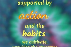 Vision supported by action and the habits we cultivate... #Visioning #GoodHabits #TakeAction #AchieveYourDreams #SelfImprovement #Success #Motivation