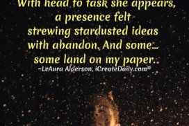 The Creative Muse... strewing star dusted ideas... #CreativeMuse #MuseQuotes #Muse #YourMuse #Creativity #DailyDoing