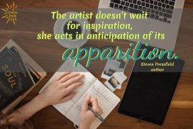 The artist doesn't wait for inspiration... #CreativeMuse #MuseQuotes #Muse #Creativity #Inspiration #Artists #Writers