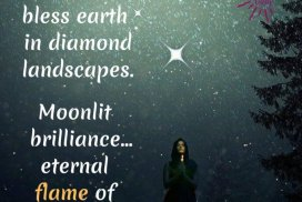 Winter stars bless earth in diamond landscapes. Moonlit brilliance... eternal flame of ice and fire. Bright night of the soul. ~LeAura Alderson, cofounder - iCreateDaily.com® #SeasonsOfLife #WinterOfLife #Creativity #PositiveAging #Ageless