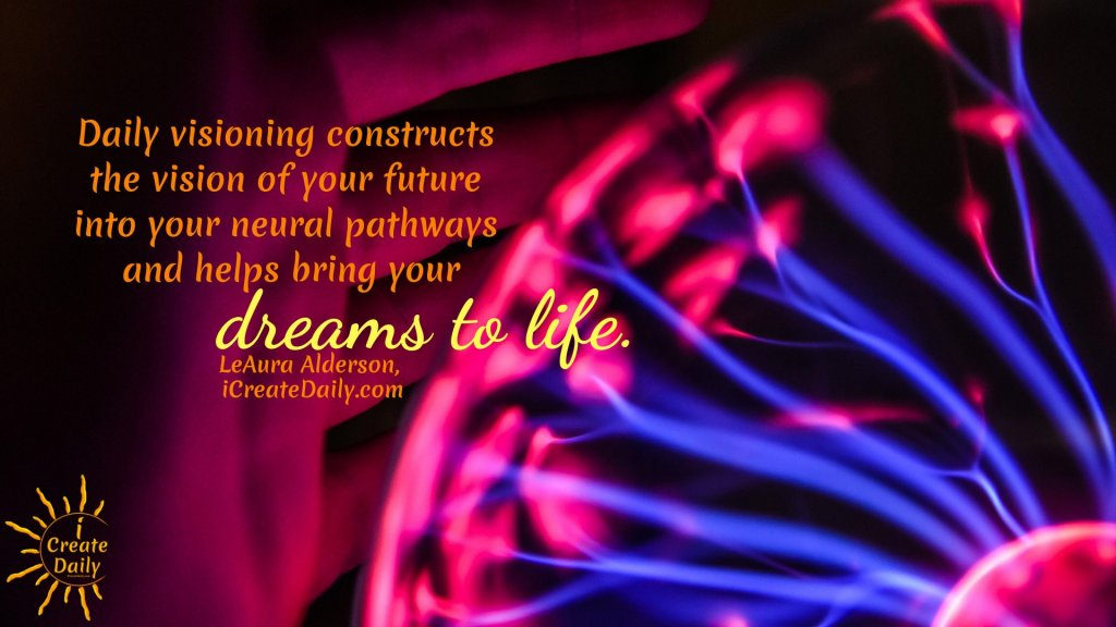 Visioning is to mentally and emotionally travel the road to your dreams. Then... you get to work to make it so. #VisioningTools #VisioningQuotes #VisionBoard #LawOfAttraction #TheSecret #Dreams